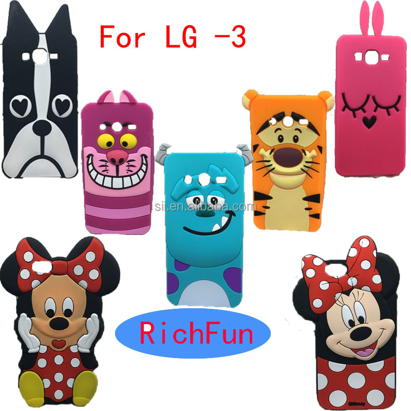 Hot 3D Lovely Cute Cartoon Sulley Cat Tiger Soft Silicon Back <strong>Cover</strong> Phone Case For LG Optimus K4 K5 K7 K8 K10 <strong>Q10</strong> Q7 Q5