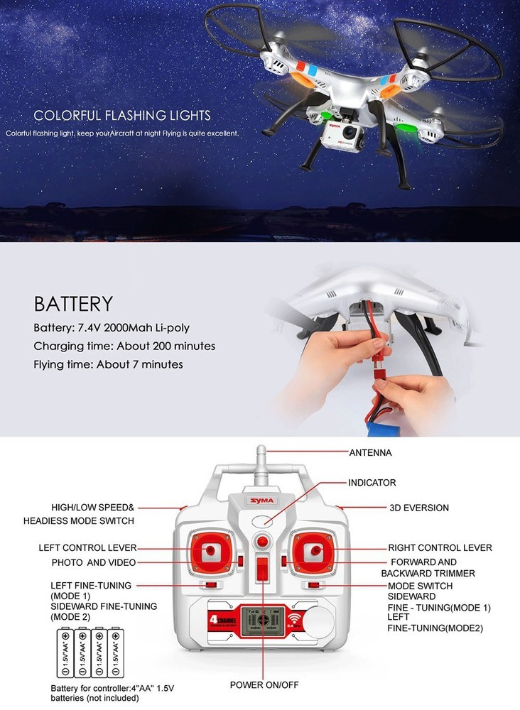 SYMA X8HG X8C X8G X8W X8 X8HW X8SW FPV RC Drone H9R 4K Camera 1080p Ultra HD WiFi 2.4G 4CH RC Quadcopter Helicopter Dron
