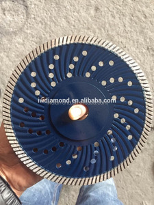 Super thin continuous rim diamond saw blade for cutting glass and porcelain