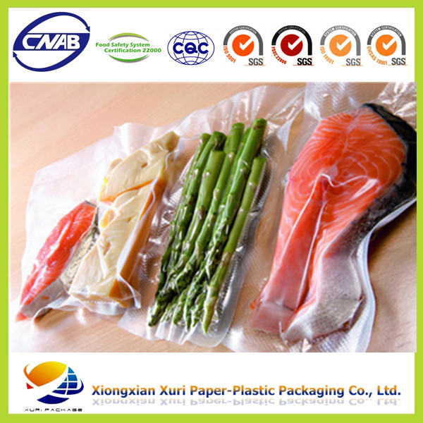 Cheap price clear plastic vacuum bag for vegetable/meat food packaging