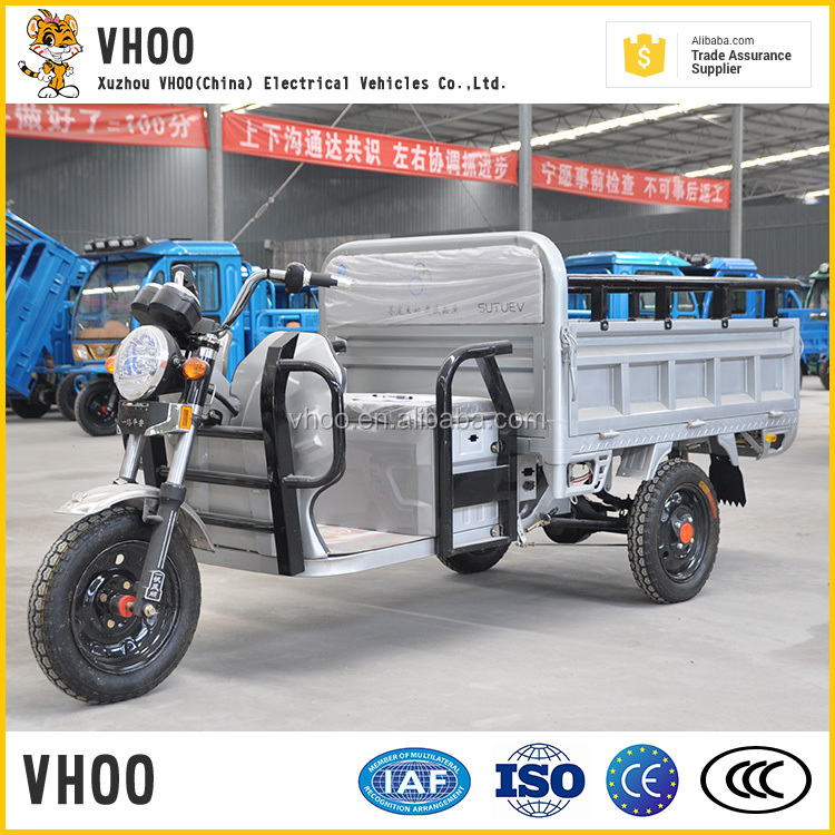 2017 VHOO brand cargo tricycle with open body with great price/hot selling electric tricycle for cargo loading