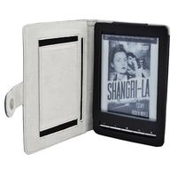 Black Cover-Up Book Style Leather Case for Sony PRS-T1 / PRS-T2 eReader