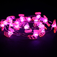 Canorful Pink Christmas Artificial Tree Decorative Invisible Led String Lights