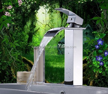high quality brass waterfall tap bathroom vessel sink basin faucet mixer tap sanitary ware