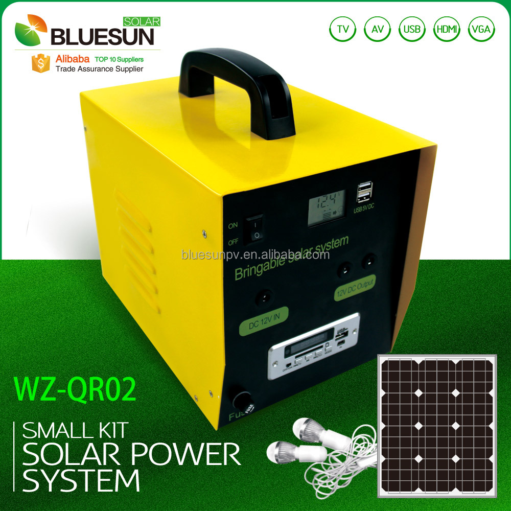 Small handy all-in-one portable solar panels DC kits for camping outdoor