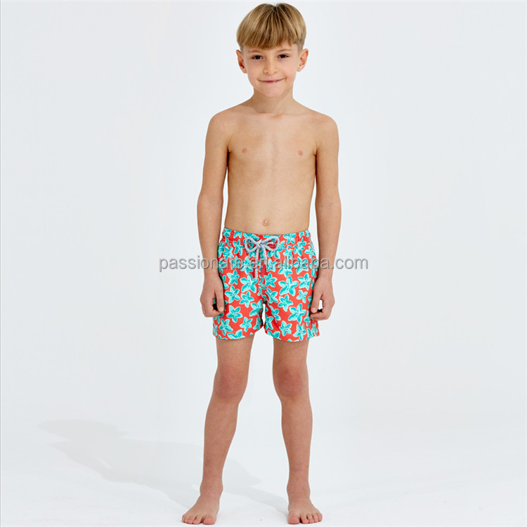 2016 wholesale custom printed fashion boys swim trunks