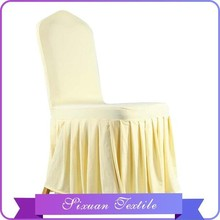 2016 Hot Sale Jacquard Chair Cover Yellow Solid Drape in China Supplier