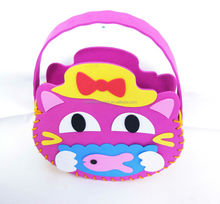 3D hot sell cartoon fashionable and funny DIY handmade foam bag made of EVA for Children