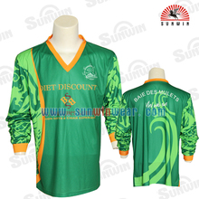 men long sleeve soccer goalkeeper jersey