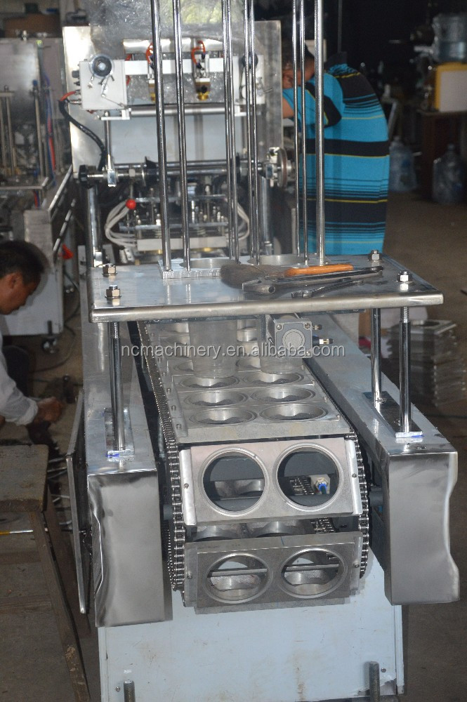 Full automatic SUS304 stainless steel 2 hole soy milk cup filling machine