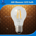 A60 A19 filament light 4000k dimmable vintage edison style led bulb