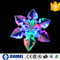 Plastic Board Multi Color Flashing Snowflake Light