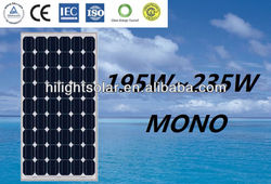 200 watt solar panel South Africa with TUV, IEC, CEC, CE, ISO