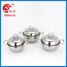 3PCS stainless steel Apple shape cookware cooking pot sets