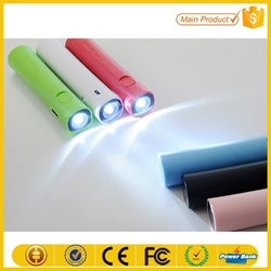 buy direct from china factory 3000mah portable power bank with led flashlights