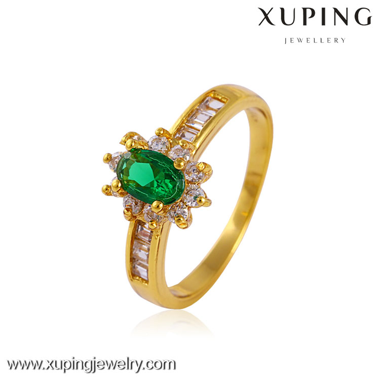 Xuping jewelry top sale 2016 romantic 24k gold color gold fashion colorful glass rings charm design gift for girl women jewelry