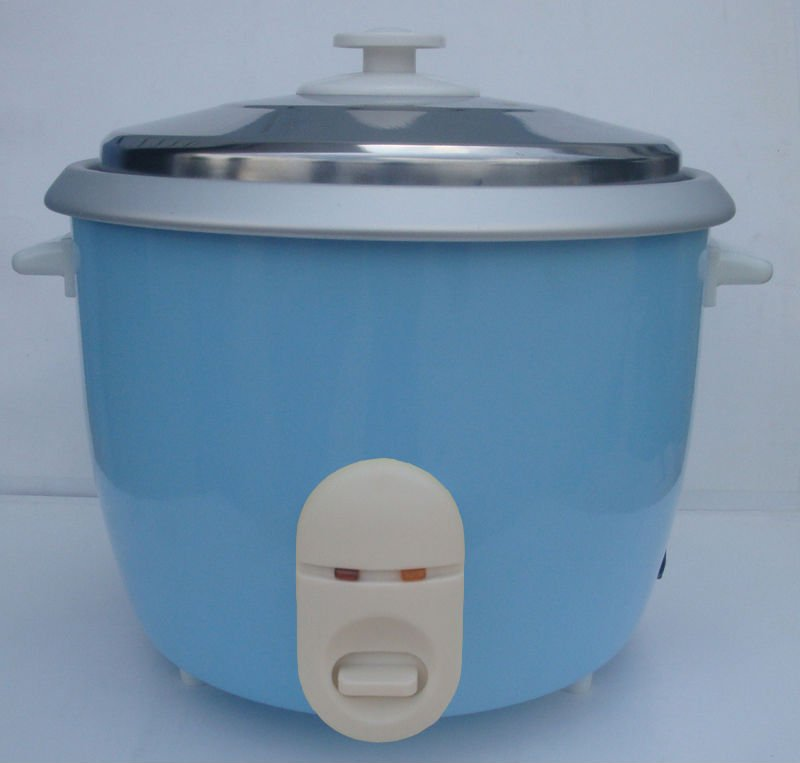 900W drum shape tinplate material blue color rice cooker