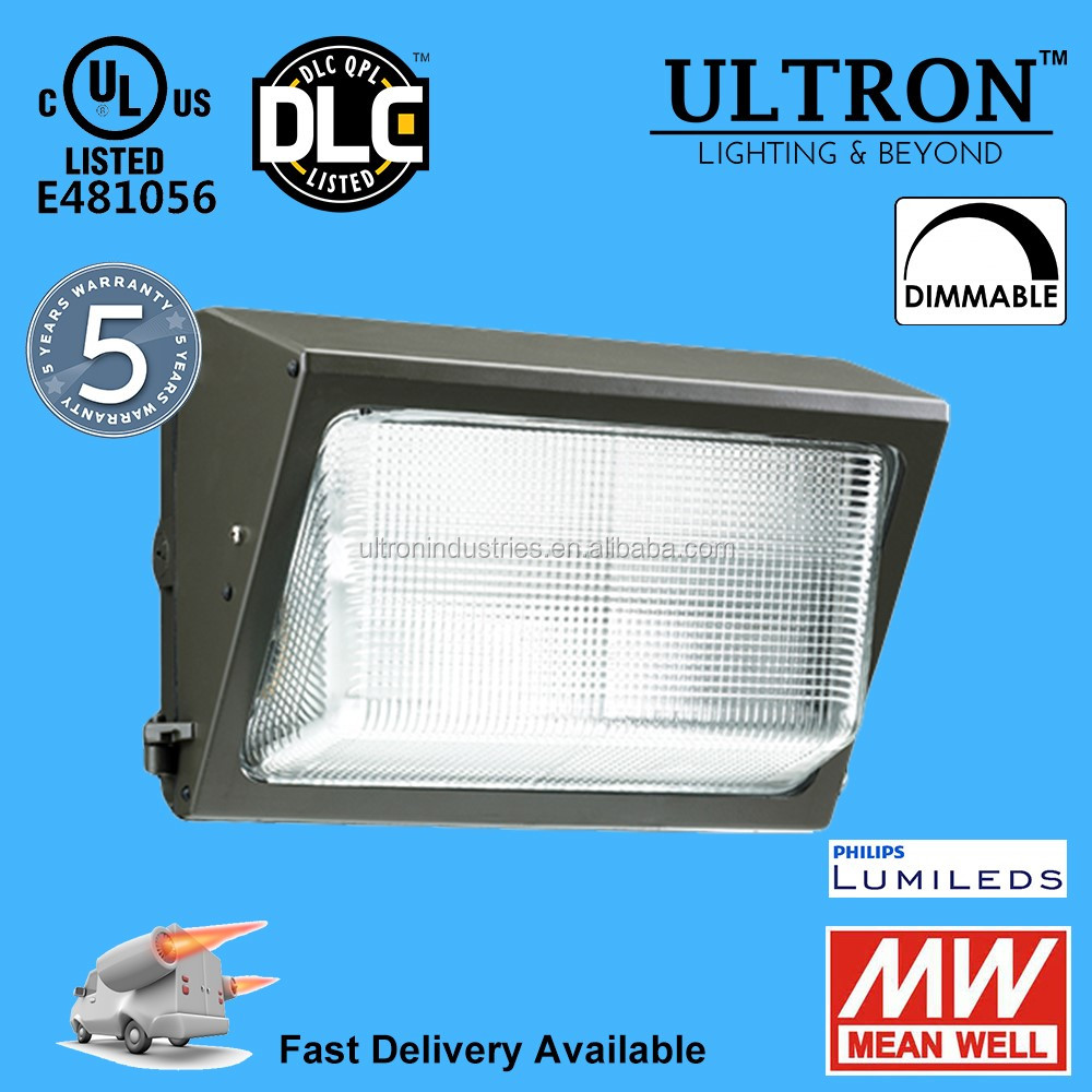 UL DLC listed outdoor 90W led wall pack lighting decorative led wall light 5 years warranty