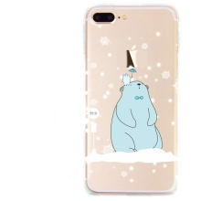 Flexible Clear Cartoon Image TPU Soft Back Cover Phone Case for iPhone 8/ 8 Plus/ X