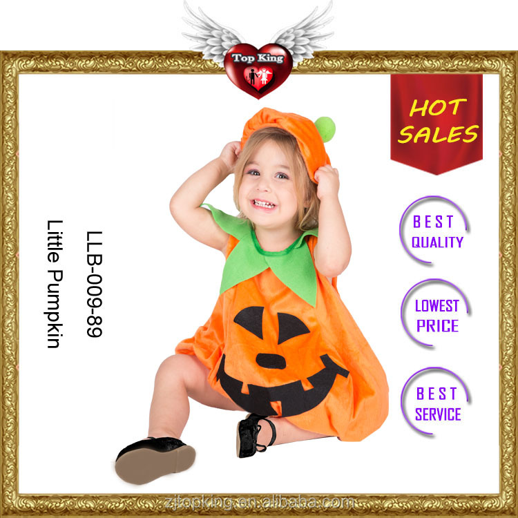 Hot Style Lovely Pumpkin Halloween Baby Costume for Kids