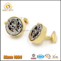 Best Seller OEM Custom Gun Grey Watch Movement Cufflinks