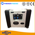 Emergency power 5kva portable diesel generator silent type home use genset air cooled