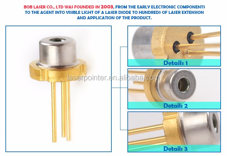 Low current 635nm 5mw rgb control led bob laser diode 5.6mm / 3.3mm
