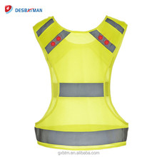 Safety Reflective Vest With Flashing Led Light For Night Runner Walker Cyclist
