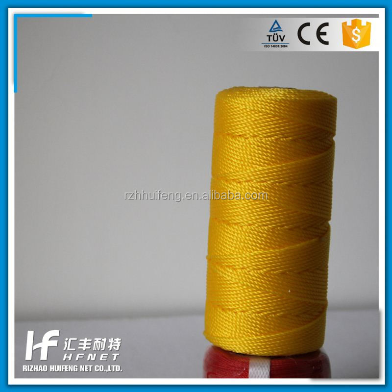 New Product High Tensity Colourful Pp Multifilament 3 Strand Twisted Twine Polypropylene Rope