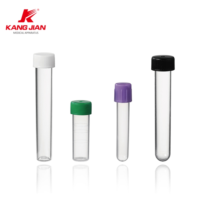 Multiple sizes purple red green grey cap blood test tube