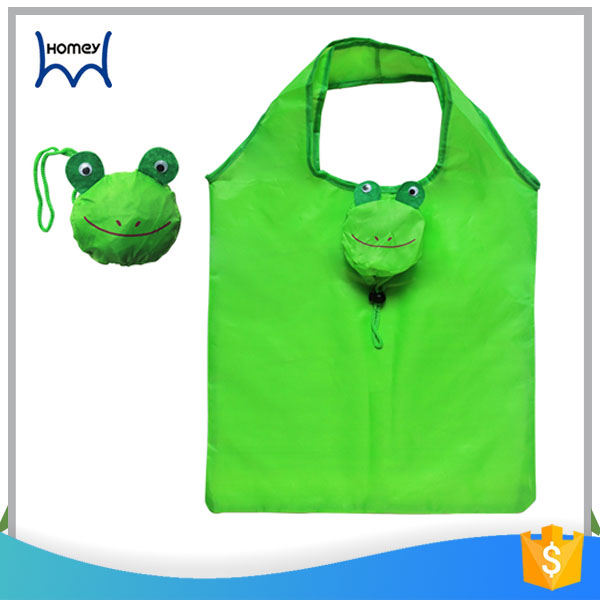 Fashion cheap promotional eco friendly waterproof 210D nylon polyester animal foldable shopping bag