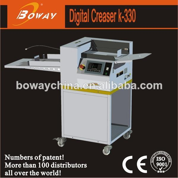 Hangzhou Boway K330C office use automatic creasing paper perforating machine