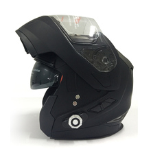 Motorcycle Full Face Helmet Built-In BT Wireless Music Intercom Helmet DOT certified Safety Motorcycle Bicycle Helmet + FM Radio