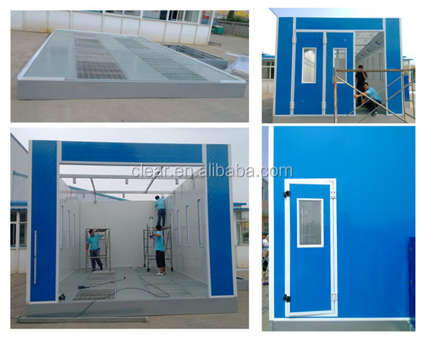 Ce Approved Car Paint Spray Booth With Eps Panel,Diesel ...
