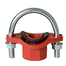 UL FM CCC attractive U-bolted mechanical tee RAL3000 fire piping delivery water supply functional great pipe fittings