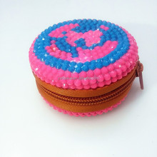 Promotional gift crystal coin purse mini round coin purse