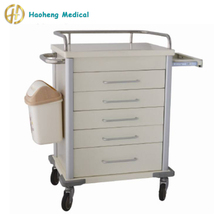 Hospital crash cart medical trolley/hospital linen trolley with drawers