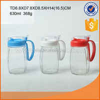 Hot sale transparent glass oil pot set with high quality