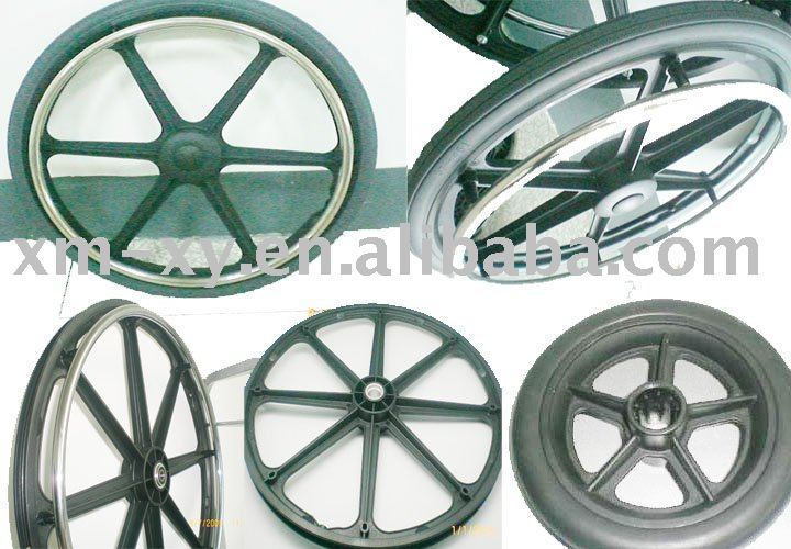 PU solid wheelchair wheel