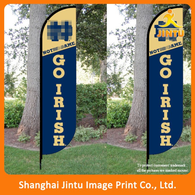 Printing Various Double Sided Polyester Banner Flags for festival/event/sport promotion (JTAMY-2015121504)