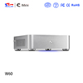W60 aluminum mini itx case support hard drive led;mini case with wifi without CD-ROM