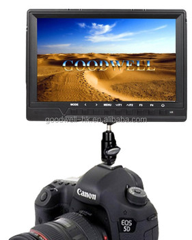 Ultra Slim Design DSLR Camera Mount Portable Monitor with HDMI Input 7 Inch with F970 Battery Plate