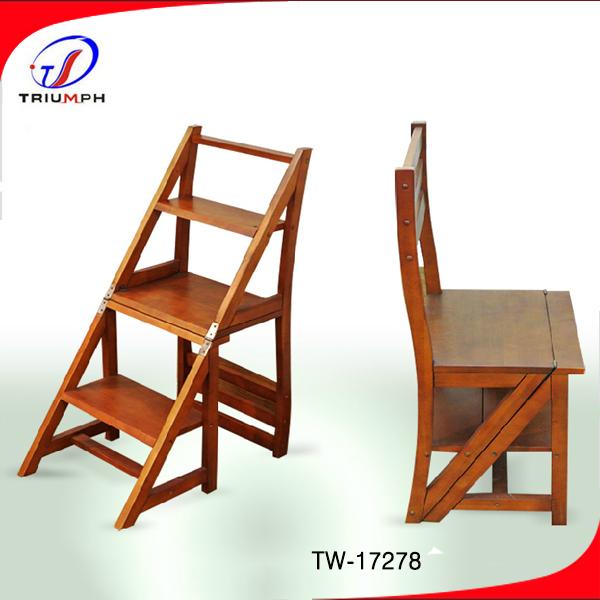 Solide bois chaise pliante chaise d 39 chelle solide mariage - Chaise pliante solide ...