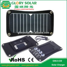 Photovoltaic small PET laminated PV solar panel 6.5W module for camping