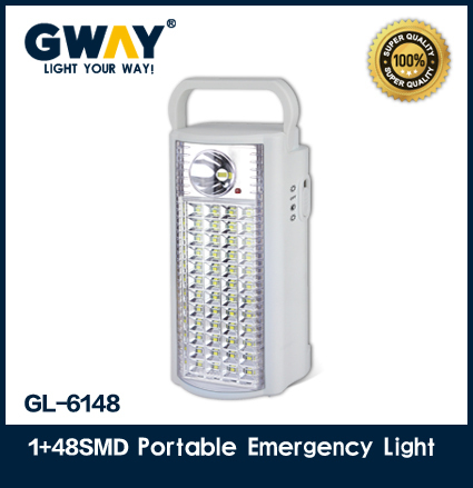 1W+48pcs of 2835 SMD LED emergency light,best quality wall mount rechargeable lanterns