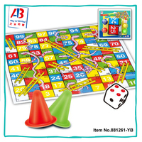 2 IN 1 LUDO LADDER GAME PLASTIC PLAY CHESS SET