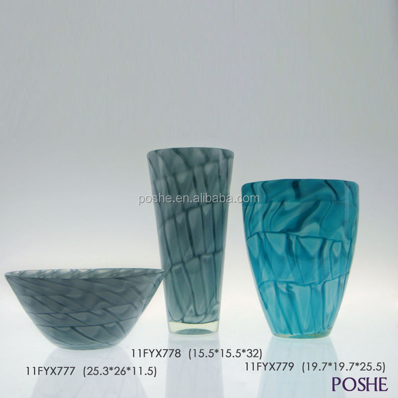 Popular low price new design wholesale high quality decorative crystal vase murano