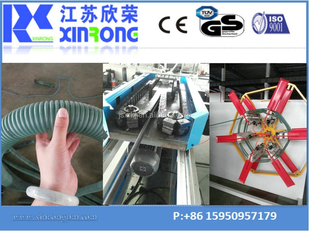 china new hdpe pvc corrugated pipe manufacturing machine