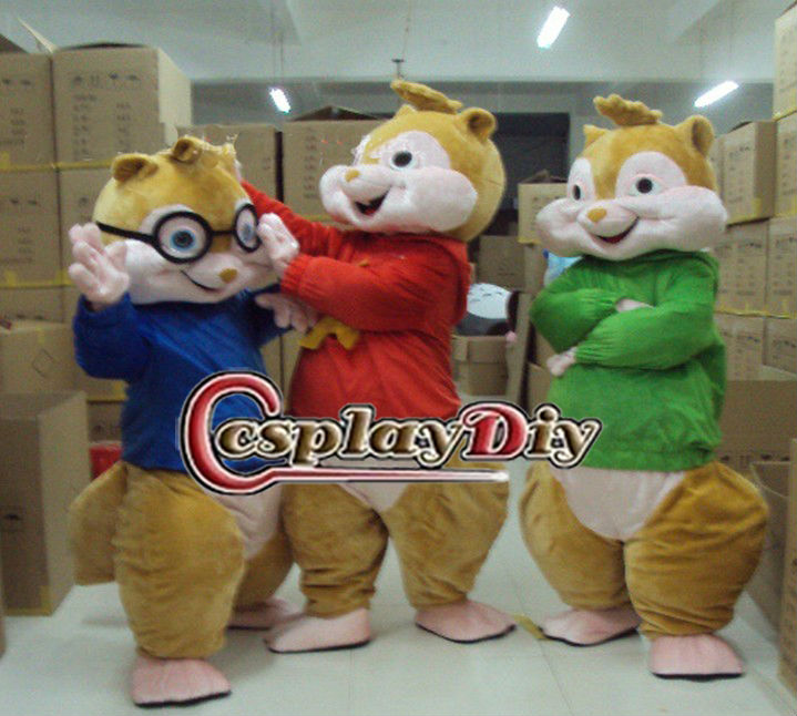 Lovely animal Chipmunks mascot costume from a classic film Alvin and the Chipmunks
