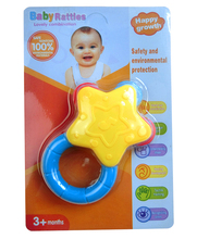 Eco-friendly Toy Rattle Noise Maker Wrist Rattle Star Shape